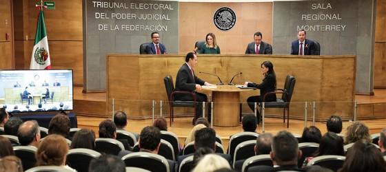 LA SALA REGIONAL MONTERREY CUMPLIÓ SU COMPROMISO DE IMPARTIR JUSTICIA DE CALIDAD Y GARANTIZÓ QUE NINGUNA DE LAS VIOLACIONES ALEGADAS EN LOS MÁS DE 2,000 JUICIOS QUE RESOLVIÓ SE TORNARA IRREPARABLE: VALLE AGUILASOCHO