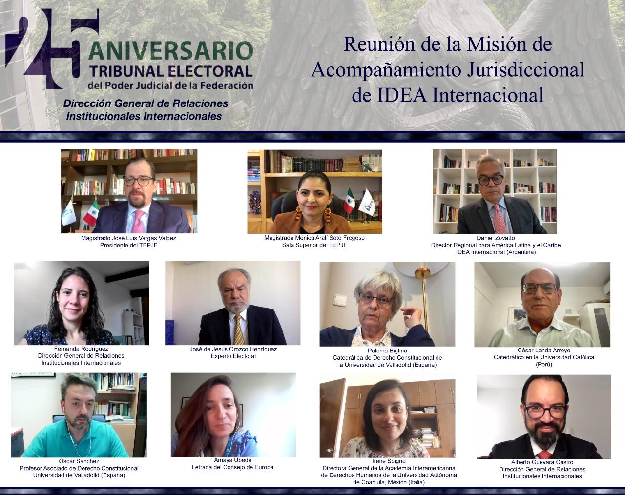El TEPJF conversa con la Misión de Acompañamiento Jurisdiccional de IDEA Internacional