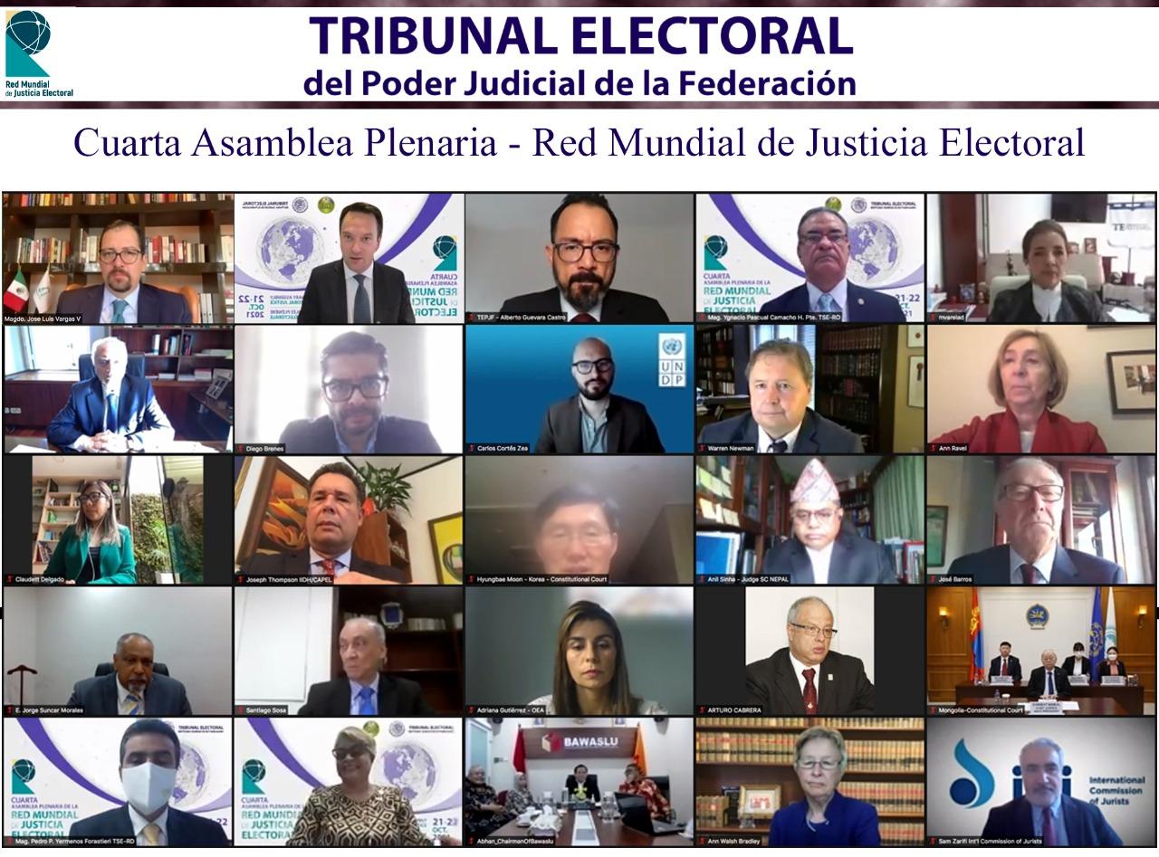 Se lleva a cabo la inauguración de la Cuarta Asamblea Plenaria de la Red Mundial de Justicia Electoral