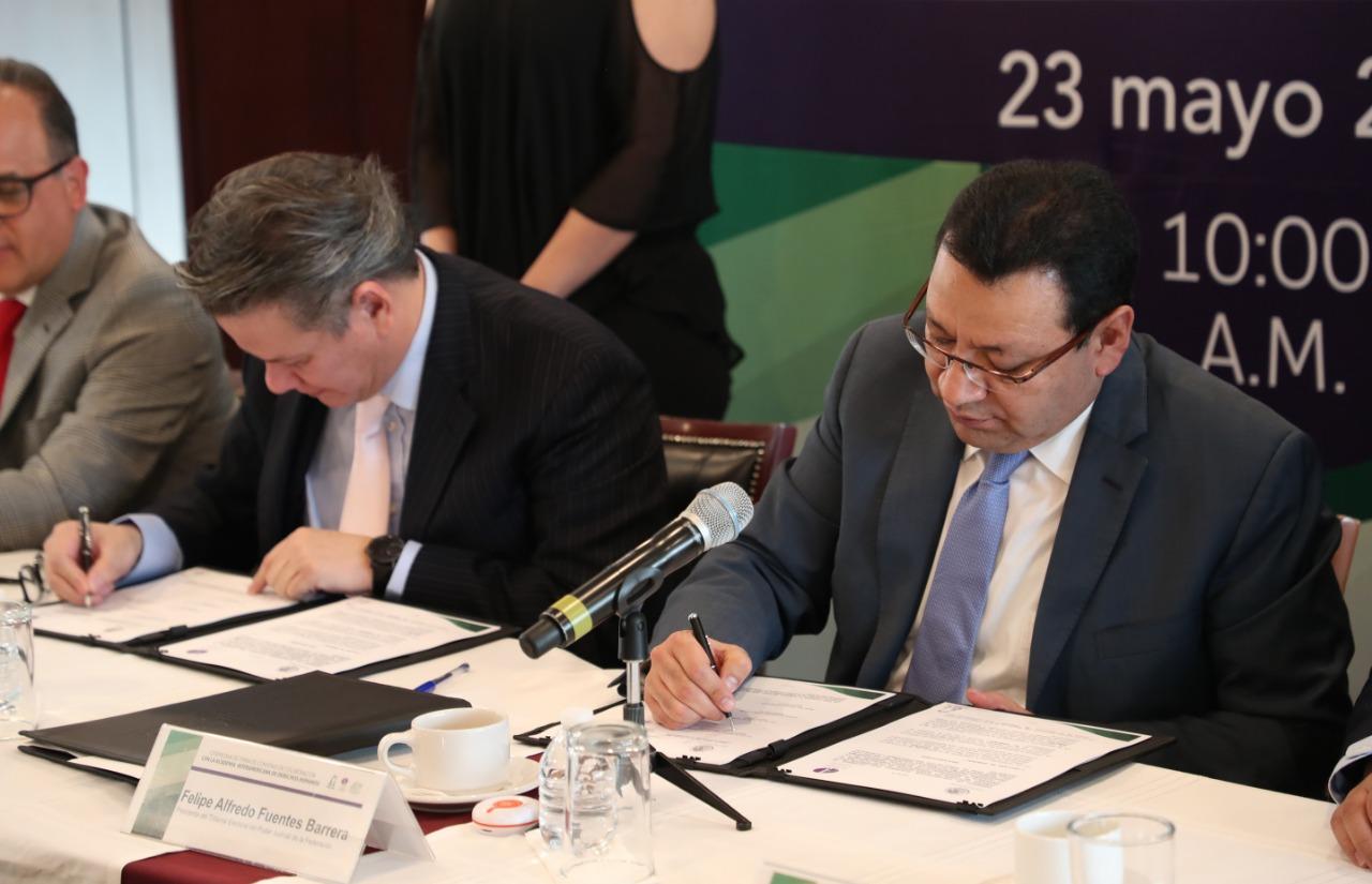 Firma TEPJF convenio con la Academia Interamericana de Derechos Humanos