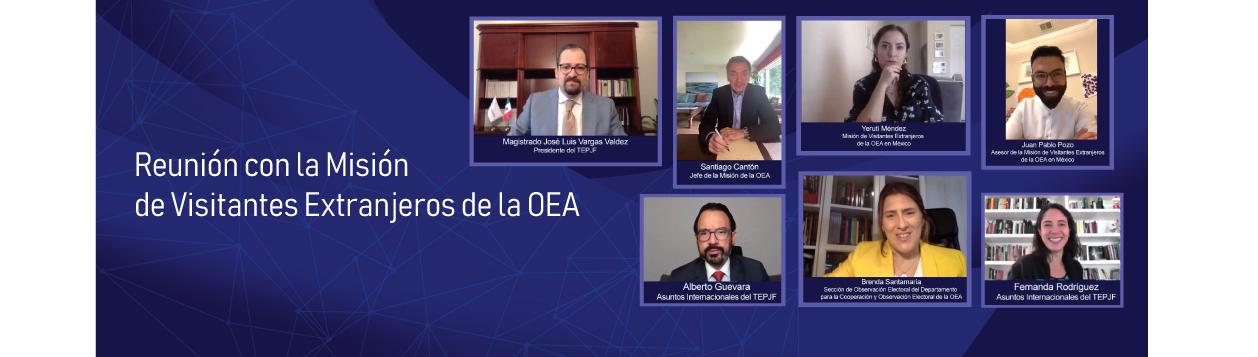 El TEPJF y Misión de la OEA sostienen reunión para dar a conocer retos del proceso electoral