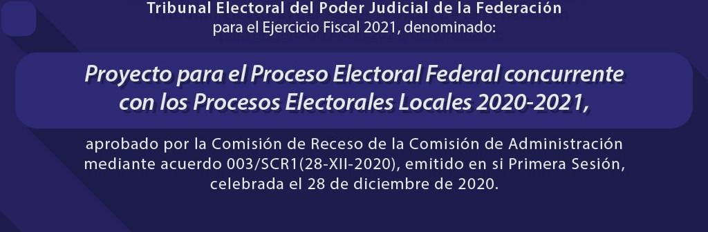 Proyecto para el Proceso Electoral Federal concurrente con los Procesos Electorales Locales 2020 – 2021