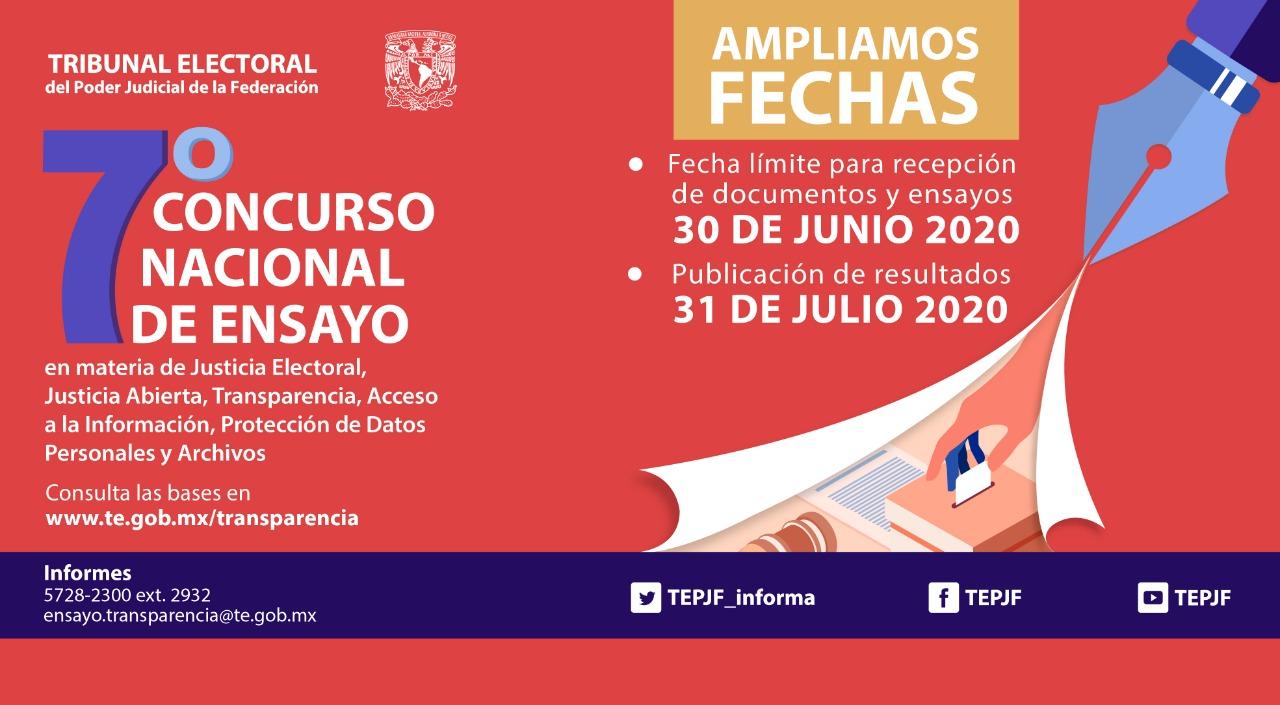 7º Concurso Nacional de Ensayo. TEPJF-UNAM