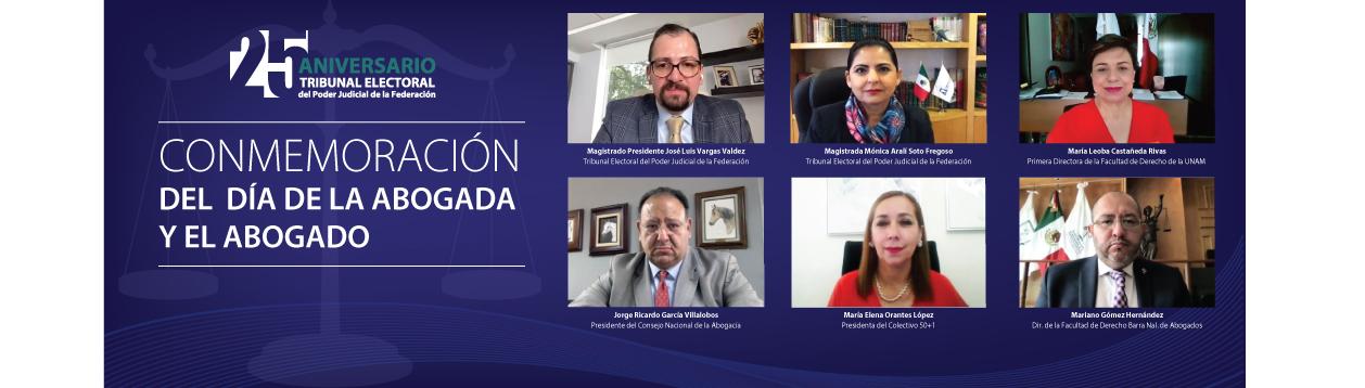México cerró la puerta a los fraudes electorales, afirma el presidente del TEPJF, José Luis Vargas Valdez, al conmemorar el Día de la abogada y del abogado