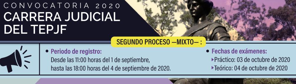 REGISTRO CONVOCATORIA 2020. SEGUNDO PROCESO MIXTO