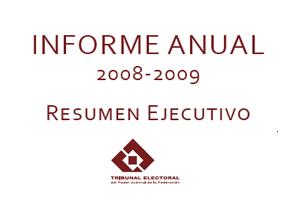 Informe de labores 2008 - 2009
