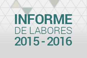 Informe de Labores 2015-2016