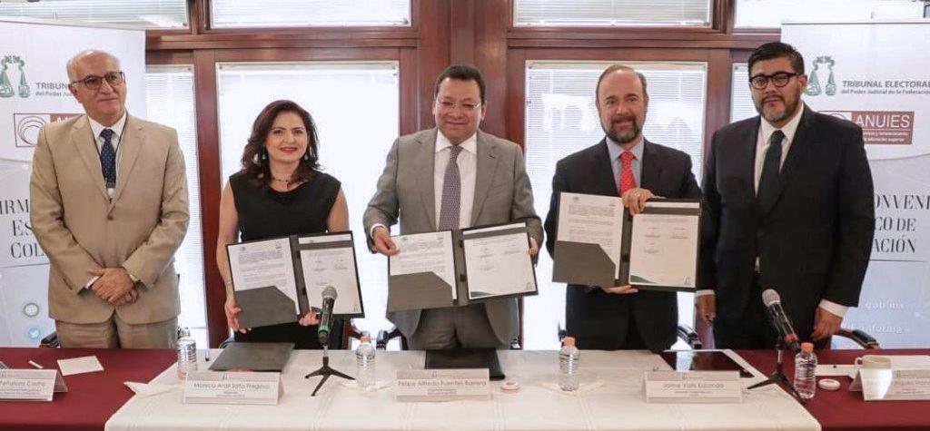 TEPJF y ANUIES firman convenio de colaboración