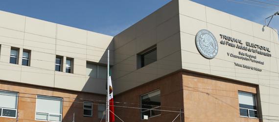 Fotografía: Fachada de la Sala Regional Toluca. Quinta Circunscripción.