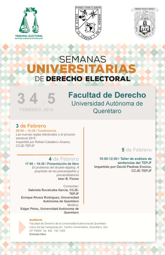 Semanas Universitarias de Derecho Electoral, Facultad de Derecho, Universidad Au