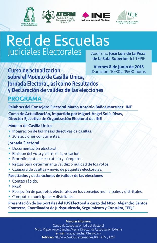Curso de actualización sobre el Modelo de Casilla Única, Jornada Electoral