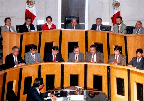 Fotografía: Sala Central del Tribunal Federal Electoral   en 1994.