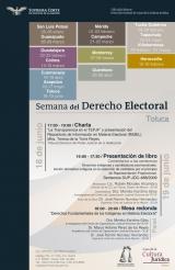 Imagen del cartel, Curso: Semana del Derecho Electoral.