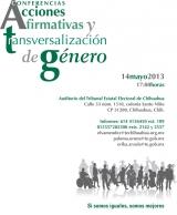 Conferencias, Acciones Afirmativas y Transversalización de Género