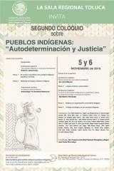 """Segundo Coloquio sobre Pueblos Indígenas: """"Autodeterminación y Justicia"""""""