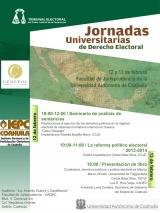 Jornadas Universitarias de Derecho Electoral. Universidad Autónoma de Coahuila