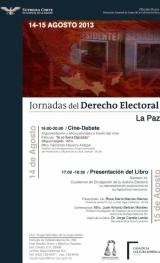 Curso: Semana del Derecho Electoral, La Paz, 14 y 15 de Agosto de 2013