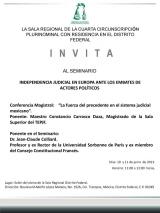Independencia Judicial en Europa ante los Embates de Actores Políticos