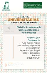 Semanas Universitarias de Derecho Electoral, Facultad de Derecho, División Acad