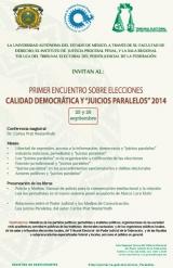 """Primer Encuentro sobre Elecciones Calidad Democrática y """"Juicios Paralelos"""" 2014"""