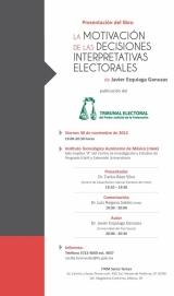 Presentaciónn del libro: La motivación de las decisiones interpretativas elector