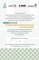 Seminario Enfoques sobre sistemas electorales y partidos políticos.