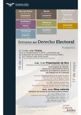 Imagen del cartel Curso: Semana del Derecho Electoral.