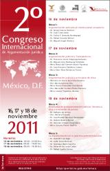 Imagen del cartel, Segundo Congreso Internacional de Argumentación Jurídica.