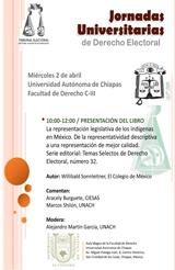 Jornadas Universitarias de Derecho Electoral Universidad Autónoma de Chiapas